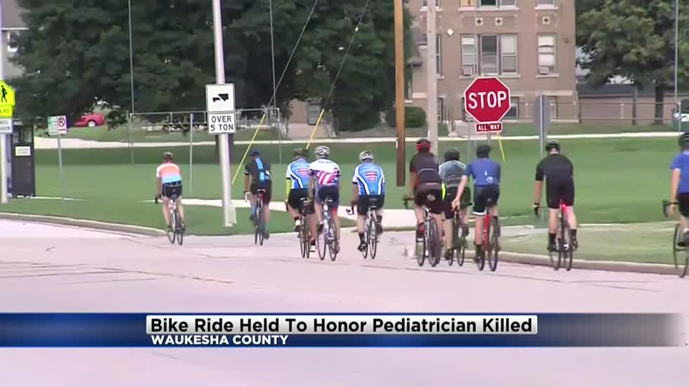 """He was extremely caring:"" Bike ride hide to honor pediatrician hit and killed while riding bike"