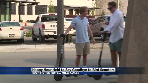 Happy hour held at Iron Horse Hotel to say goodbye to Bird Scooters