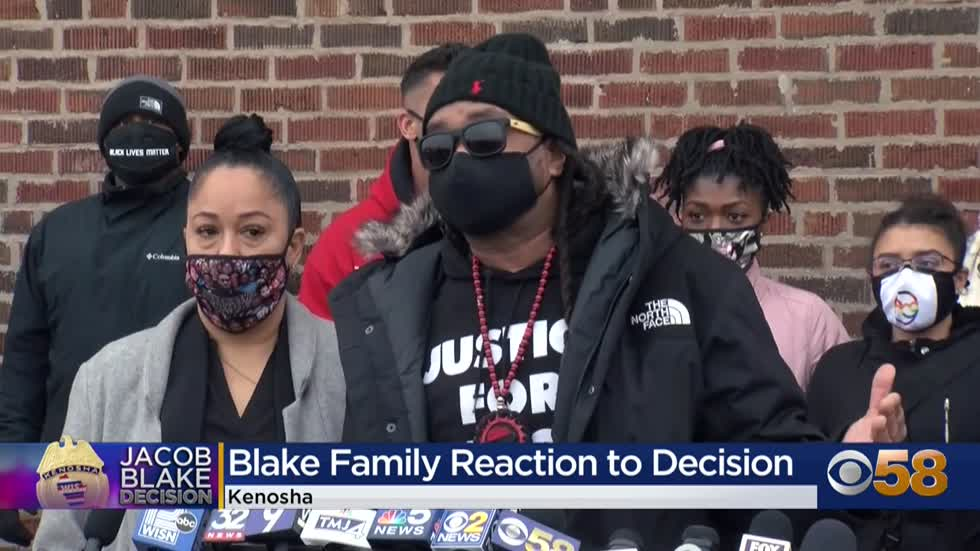 Jacob Blake's family, attorneys 'immensely disappointed' by DA's decision