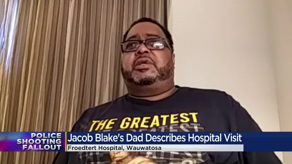 'He couldn't get up if he wanted to:' Jacob Blake Sr. discusses son being shackled in hospital