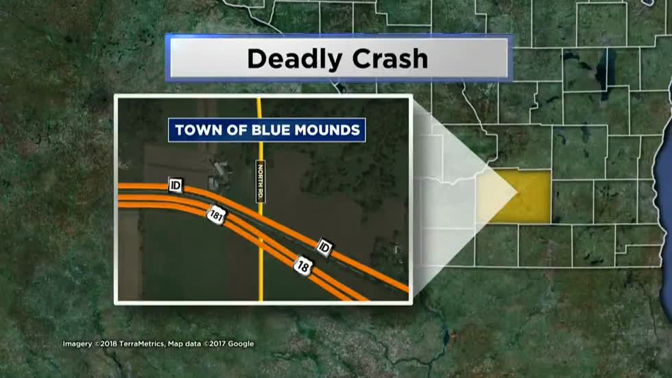 Fatal one vehicle crash in Town of Blue Mounds