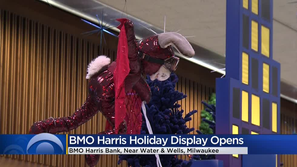 BMO Harris Bank's superhero-themed holiday display opens in downtown Milwaukee