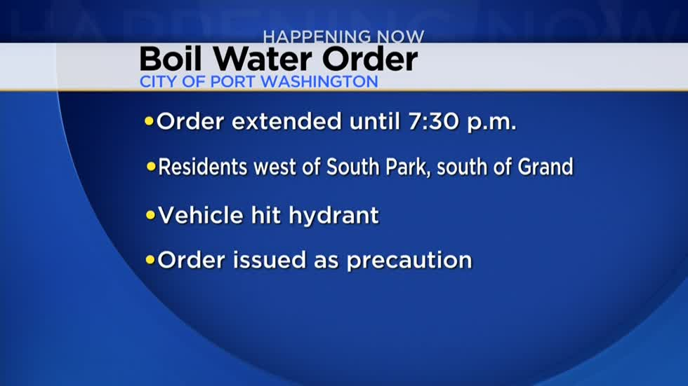 Boil advisory in Port Washington has been lifted