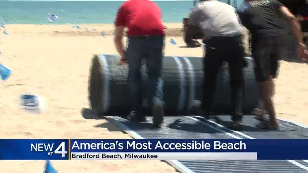Bradford Beach is now America's most accessible beach with new pathways, wheelchairs