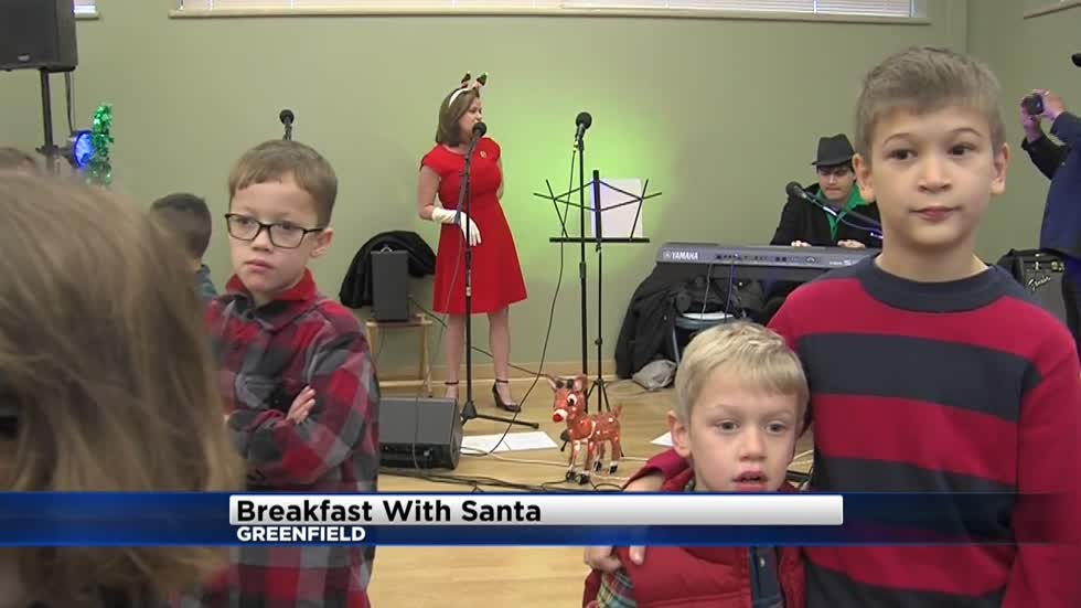 A sense of community alive and well at Greenfield's annual Breakfast with Santa event
