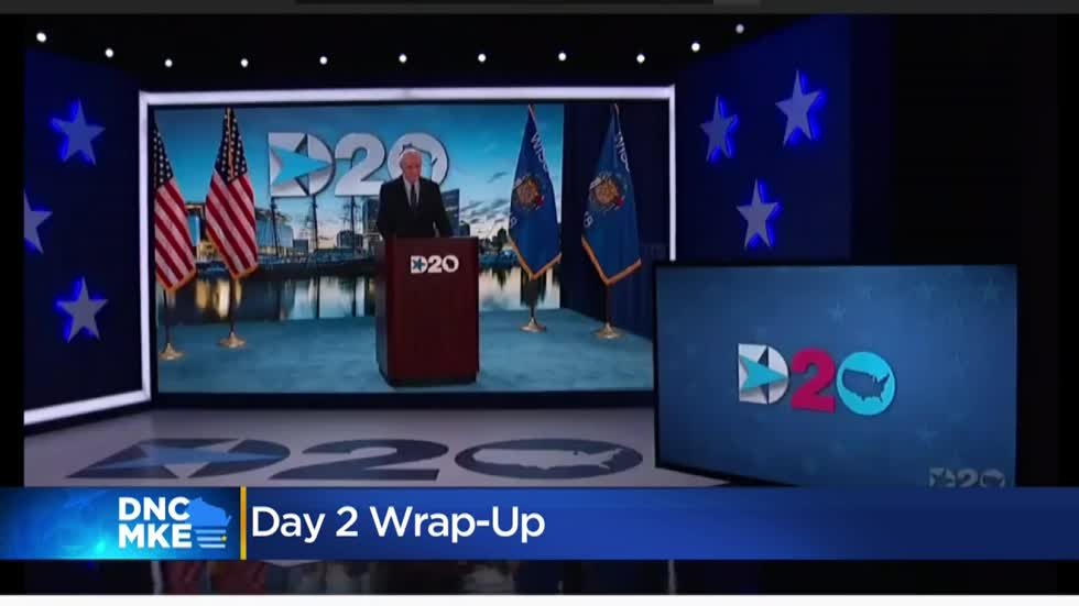 How did Wisconsin factor into day two of the DNC?