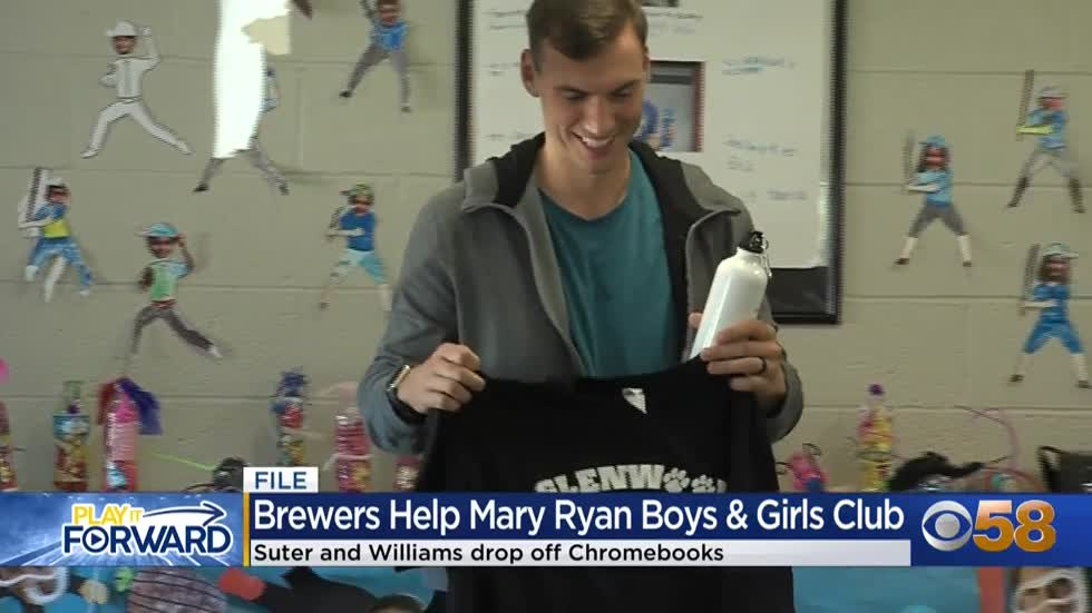 Brewers pitcher Brent Suter gets involved, helps donate Chromebooks...