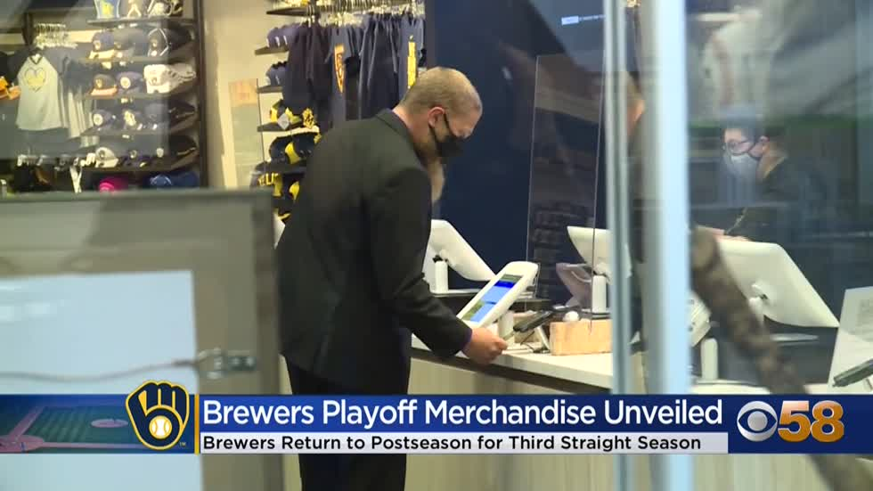 Milwaukee Brewers postseason gear goes up for sale at Miller...