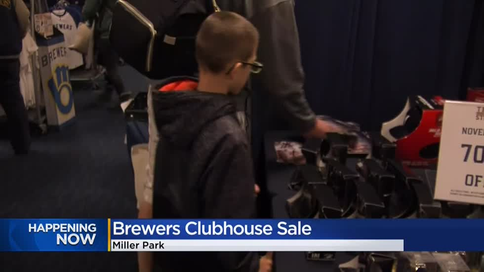 Brewers 39th annual Clubhouse Sale features discounted 'M' merchandise and more