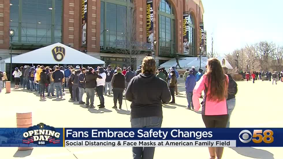 'Glad to be back': Milwaukee Brewers' Opening Day brings emotional return for fans