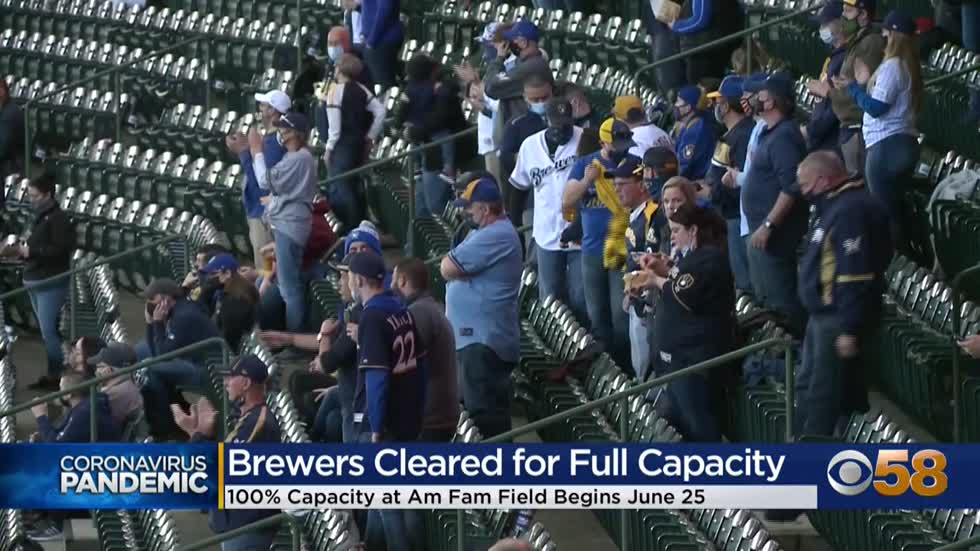Brewers to be at 100% capacity at American Family Field starting...