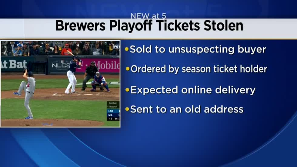 Waukesha County man charged with stealing Brewers playoff tickets