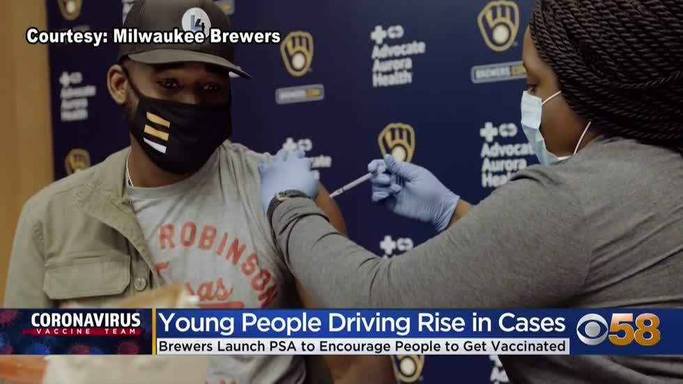 Brewers launch PSA to encourage Wisconsinites to get vaccinated amid spike in younger adults