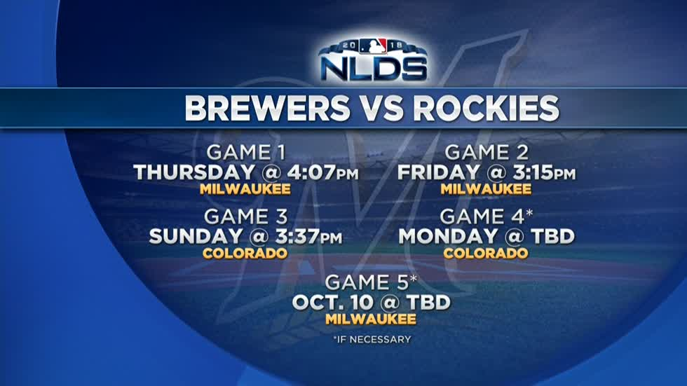 Brewers to take on Rockies in NLDS