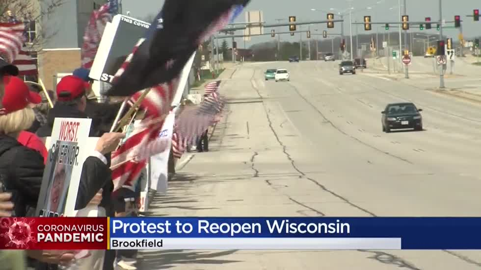 Protesters rally in Brookfield days before Wisconsin Supreme Court set to consider GOP lawsuit