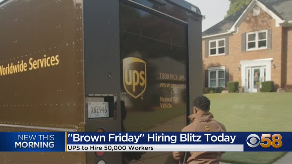 UPS to hire 50,000 people on 'Brown Friday'