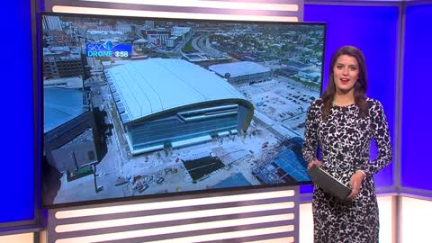 New Bucks arena on schedule to be completed by August, officials show off progress