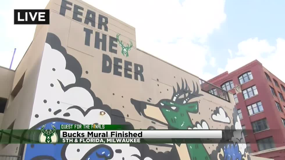 Bucks mural unveiled in Walker's Point