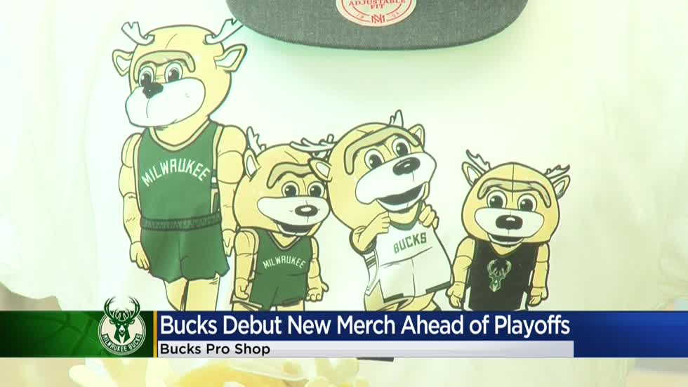 Gearing up with new apparel as we root on the playoff-bound Milwaukee Bucks