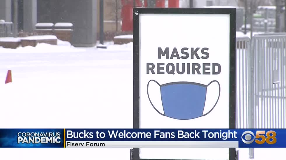 'The lifeblood of our game': Milwaukee Bucks welcome some fans back to Fiserv Forum