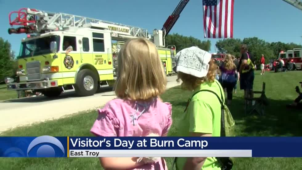 Burn survivors attend camp in East Troy, celebrated by local fire departments, emergency responders