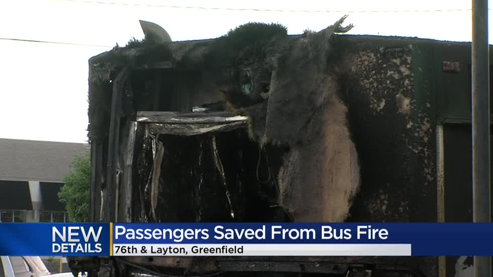 MCTS bus catches fire near 76th and Layton