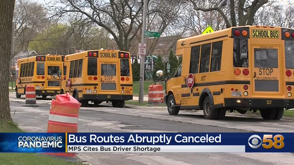 At least 160 MPS bus routes canceled on first day back for in-person...