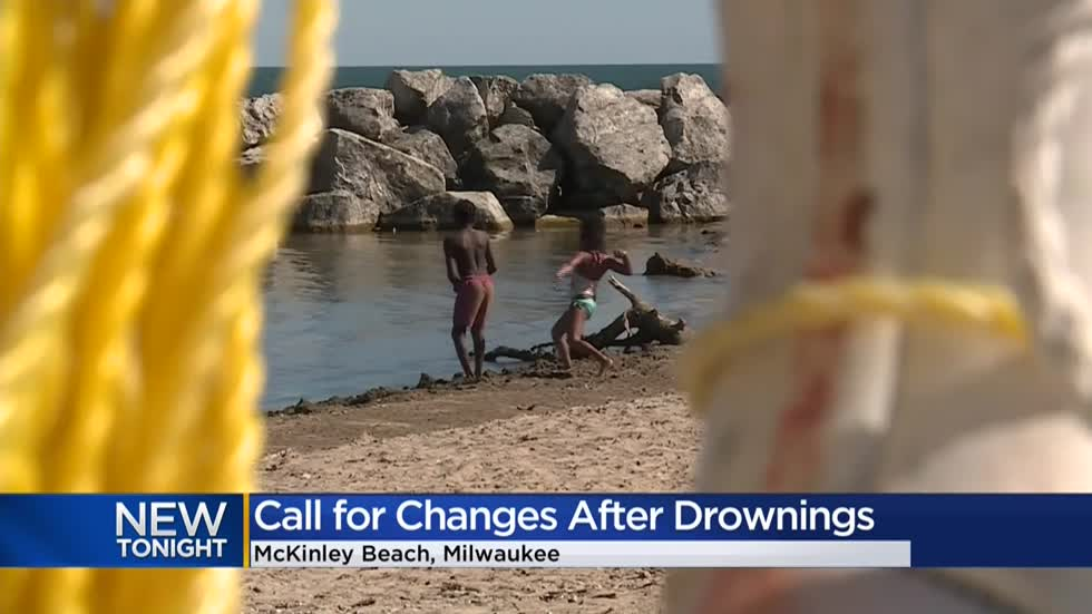 Milwaukee Co. supervisor calls for lifeguards, added safety after drownings at McKinley Beach