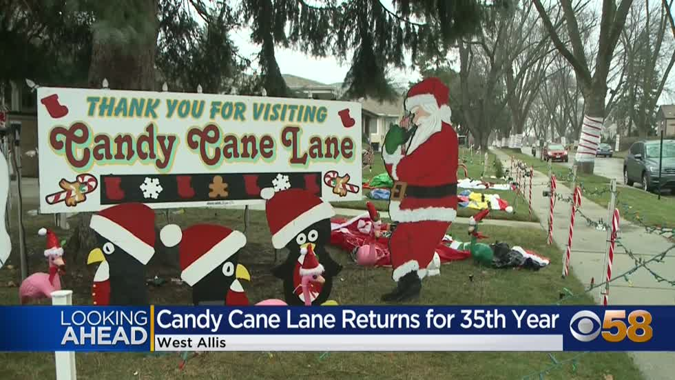Candy Cane Lane returns to West Allis Friday