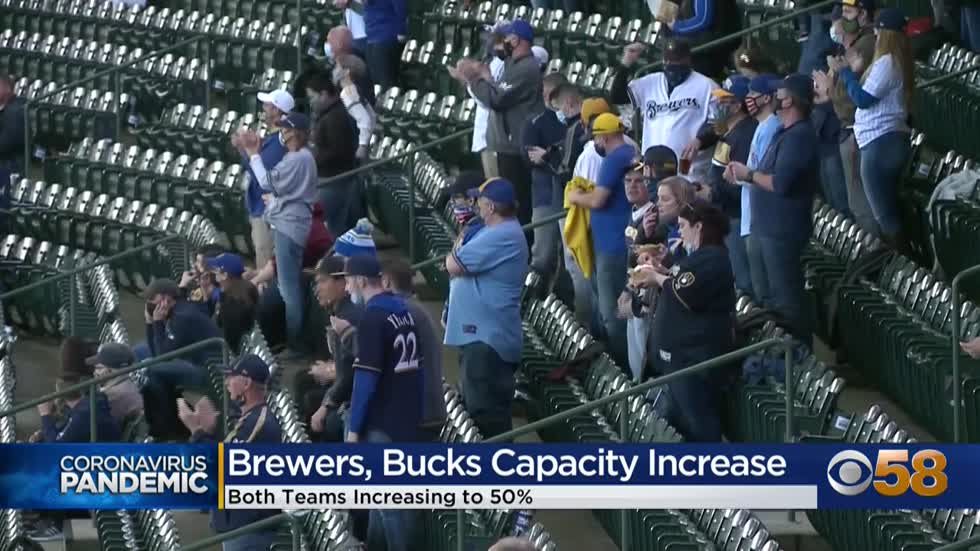 Bucks, Brewers excited to welcome more fans as capacity limits...
