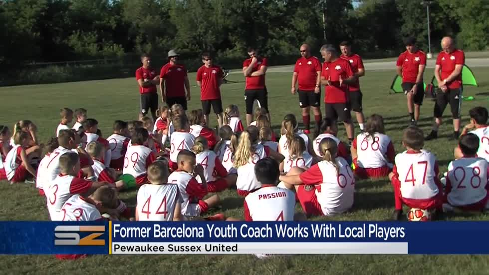 Former FC Barcelona youth coordinator visits Pewaukee Sussex United Soccer Club