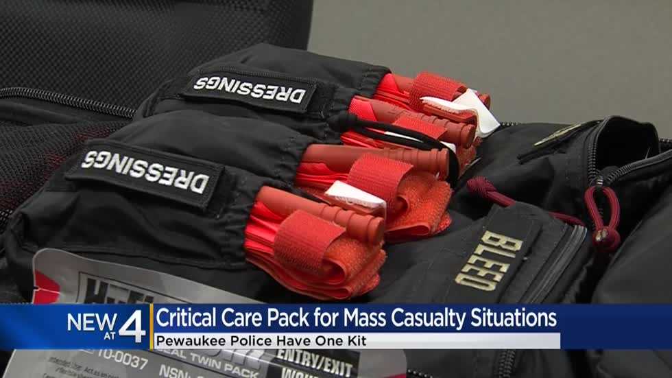 Pewaukee police equipped with critical care packs for mass casualty situations