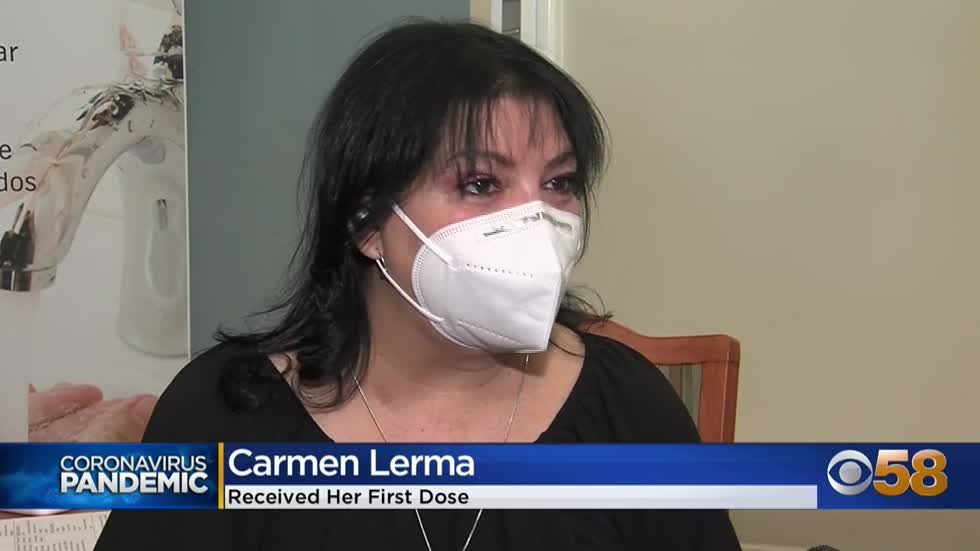 Carmen Lerma, COVID survivor and double lung transplant recipient,...