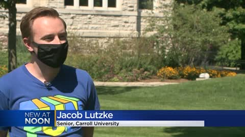 ' Students return to campus at Carroll University