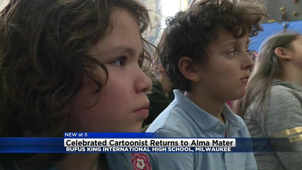 Nationally celebrated author and cartoonist returns to Alma Mater Rufus King