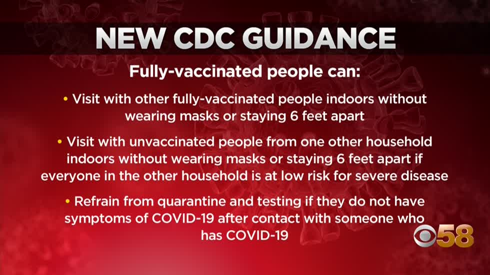 CDC releases highly anticipated guidance for people fully vaccinated...