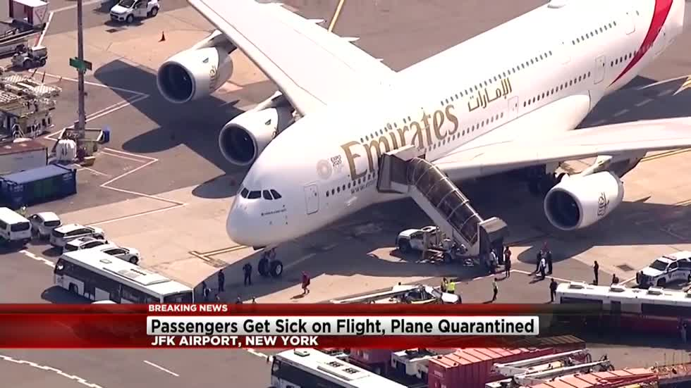 CDC meets plane at JFK after 100 passengers feel sick