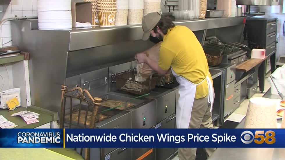 Price of chicken wings doubles amid worker shortage