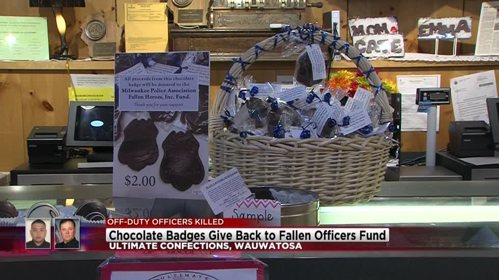 Local business sells chocolate badges to benefit Milwaukee fallen officers