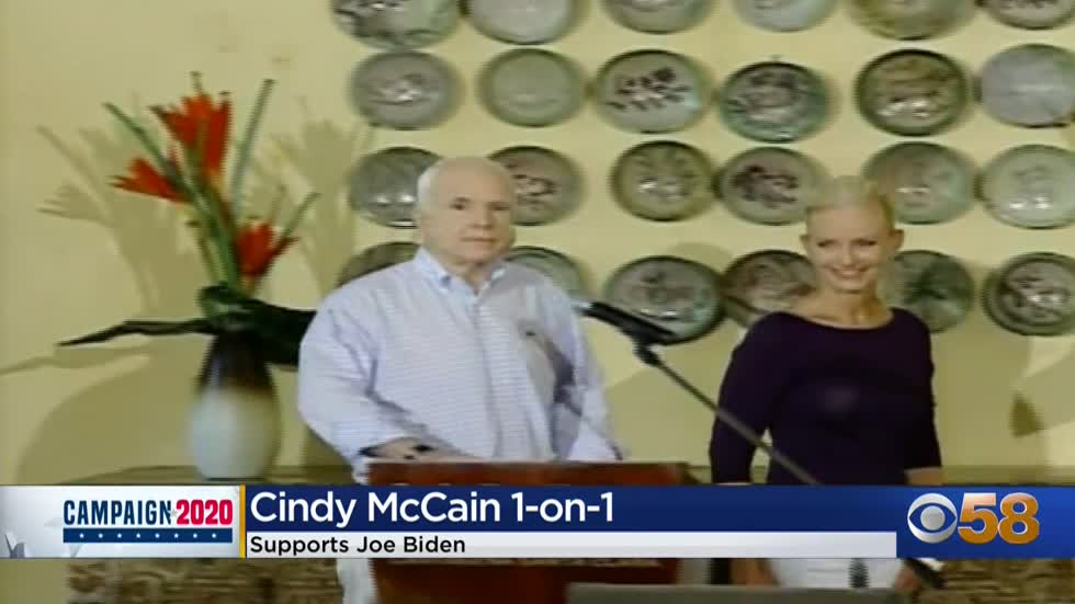 Cindy McCain expresses support for Joe Biden in one-on-one interview