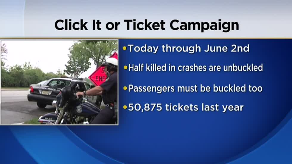 'Click It or Ticket' campaign kicks off Monday across Wisconsin