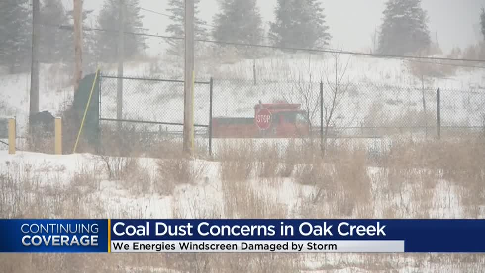 Oak Creek neighbors concerned about coal dust after fence damaged outside coal plant