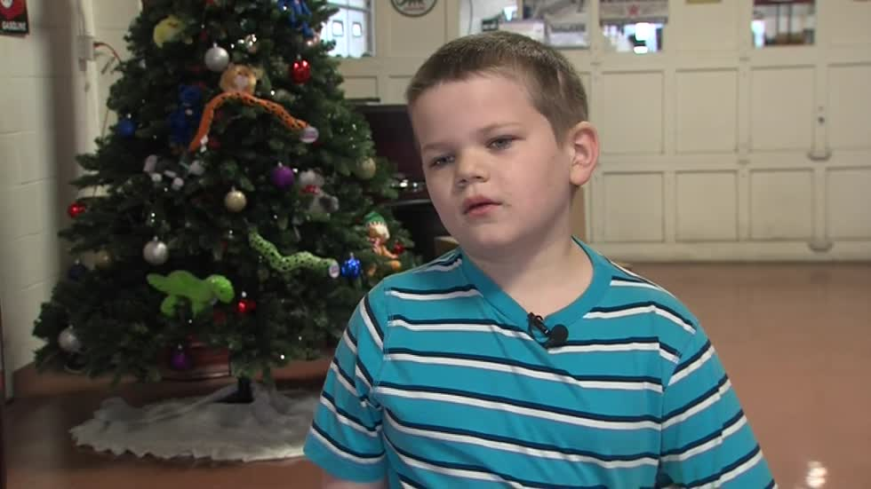 Caledonia boy who survived multiple brain surgeries collects toys for other children in crisis