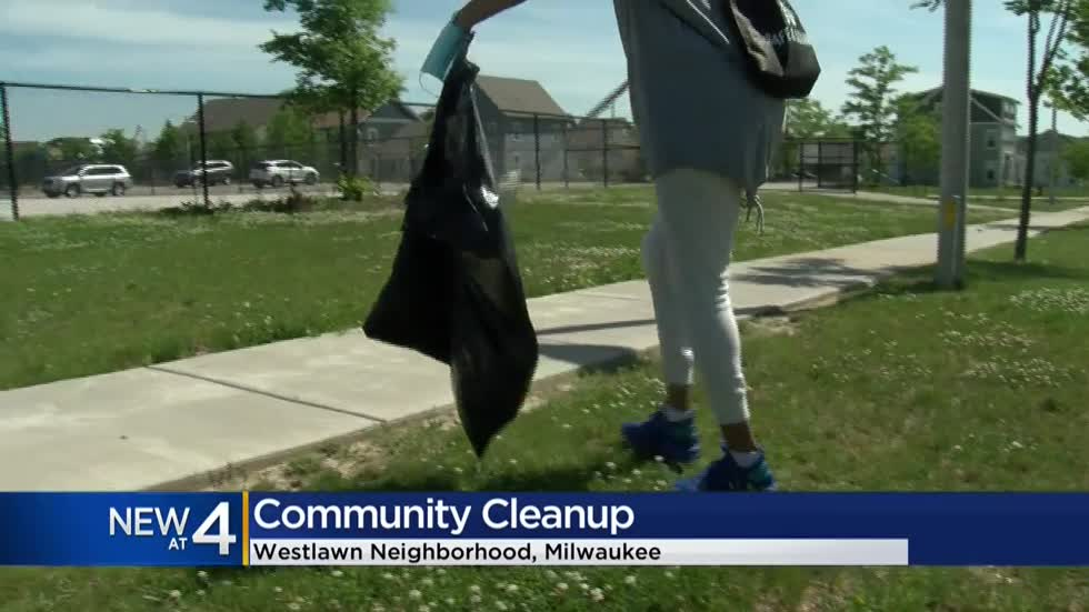 Volunteers hold community cleanup in Milwaukee's Westlawn neighborhood