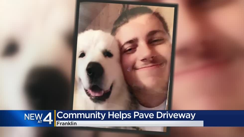 """I have a guardian angel:"" Franklin family receives roof, paved driveway following loss of son"