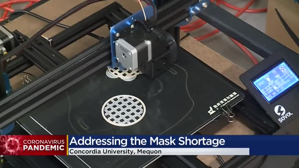 Concordia University using 3D printers to make masks for medical workers