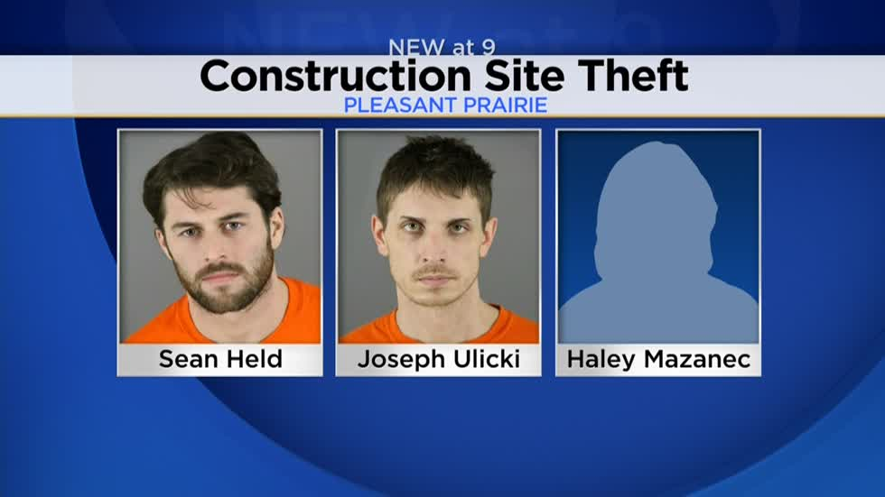 Three charged with allegedly stealing from Brookfield construction site