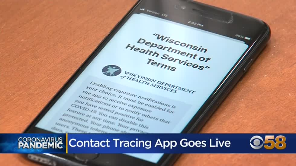 Wisconsin launches new COVID-19 contact tracing app