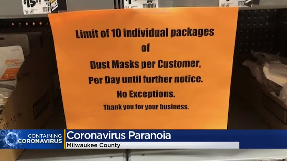 High demand for face masks affecting Milwaukee area pharmacies, stores