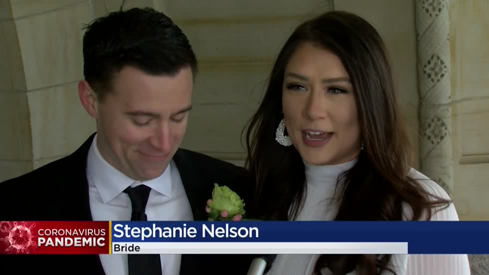 Local couple's wedding guests watch ceremony via live stream amid COVID-19 regulations